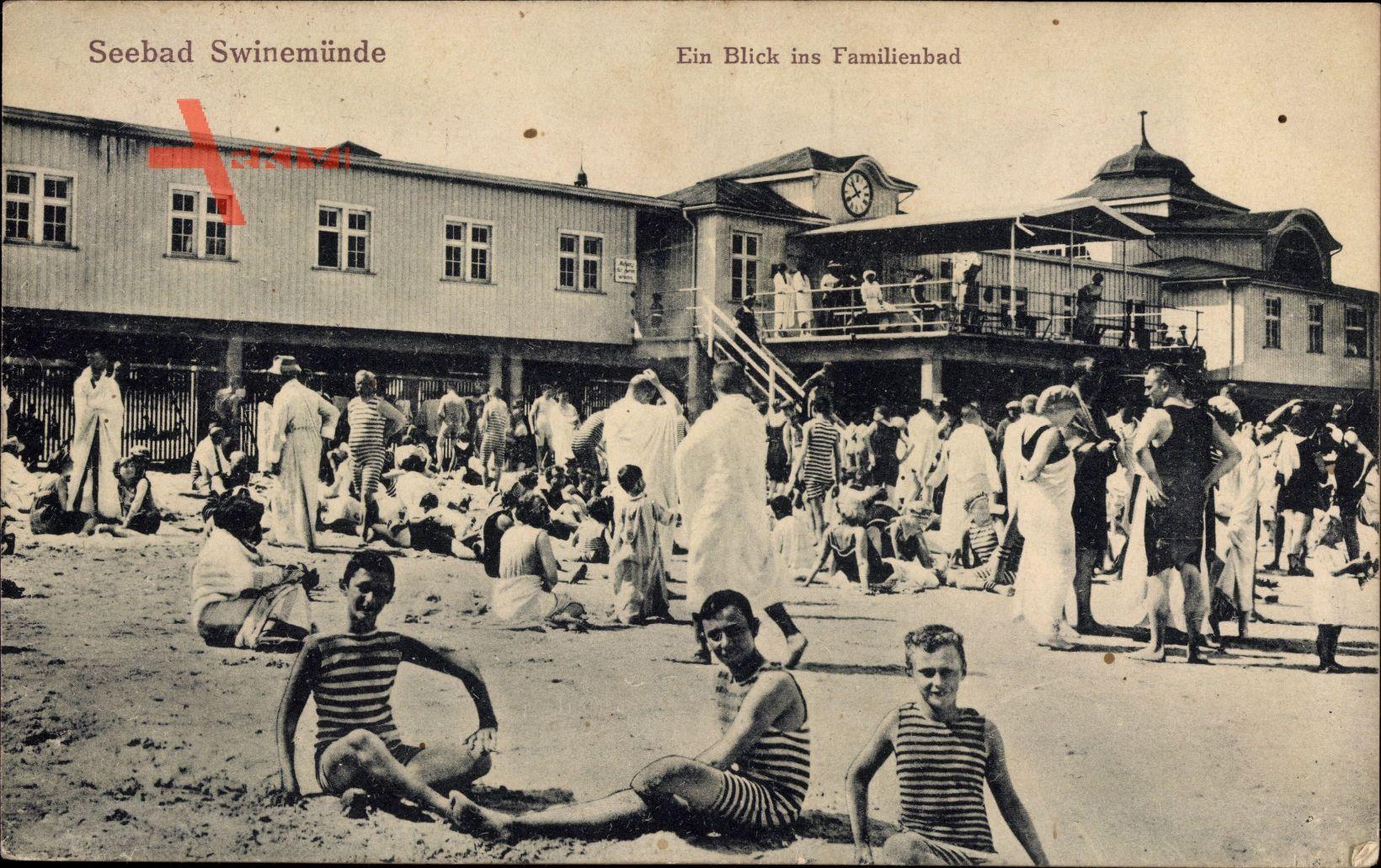 Świnoujście Swinemünde Pommern, Blick ins Familienbad