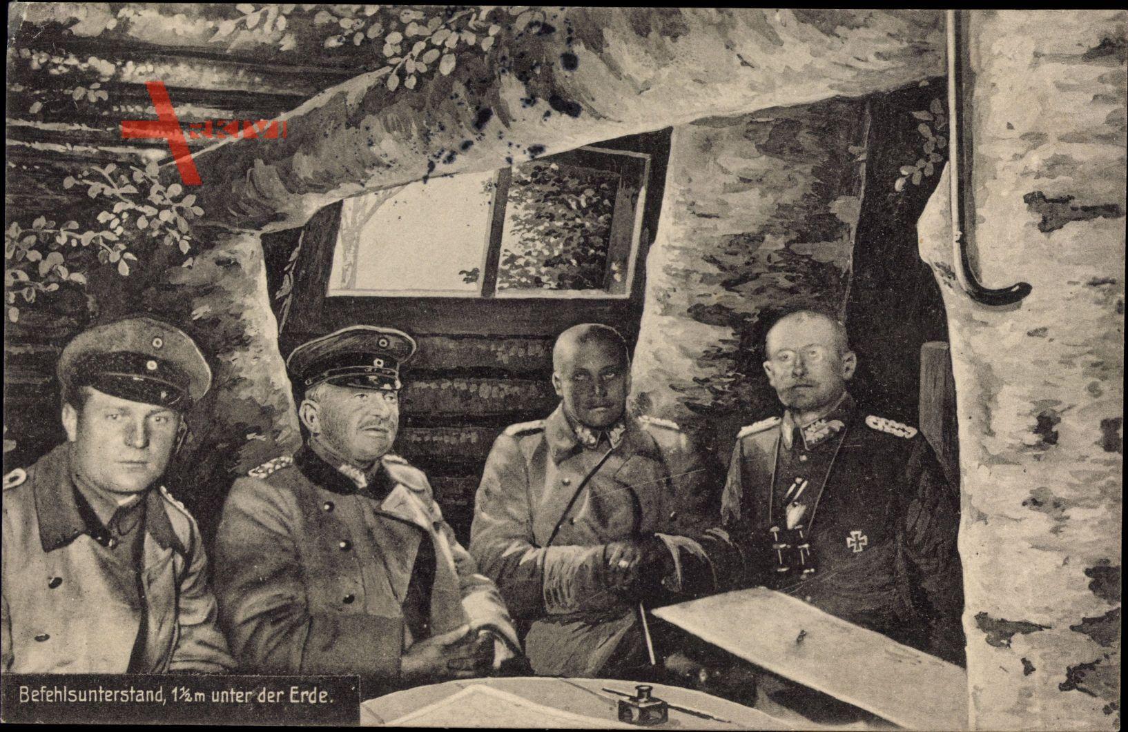 Befehlsunterstand unter der Erde, Offiziere, I. WK