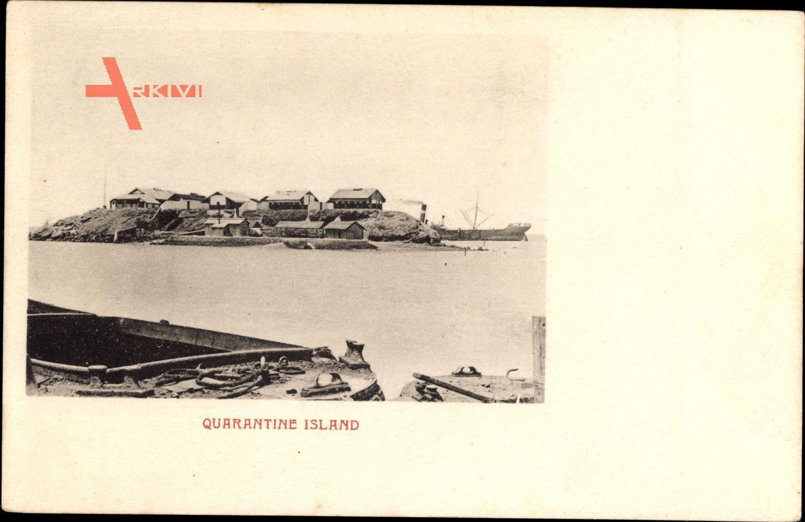 Neuseeland, Quarantine Island, Quarantäneinsel, Dampfer