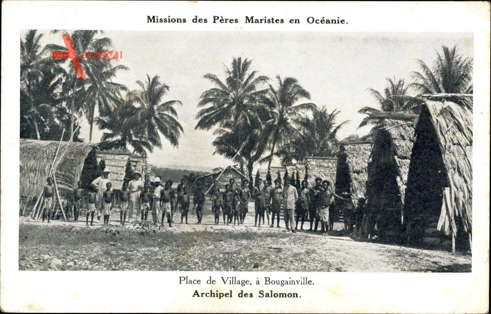 Archipel des Salomon, Place de Village à Bougainville, Missions Maristes