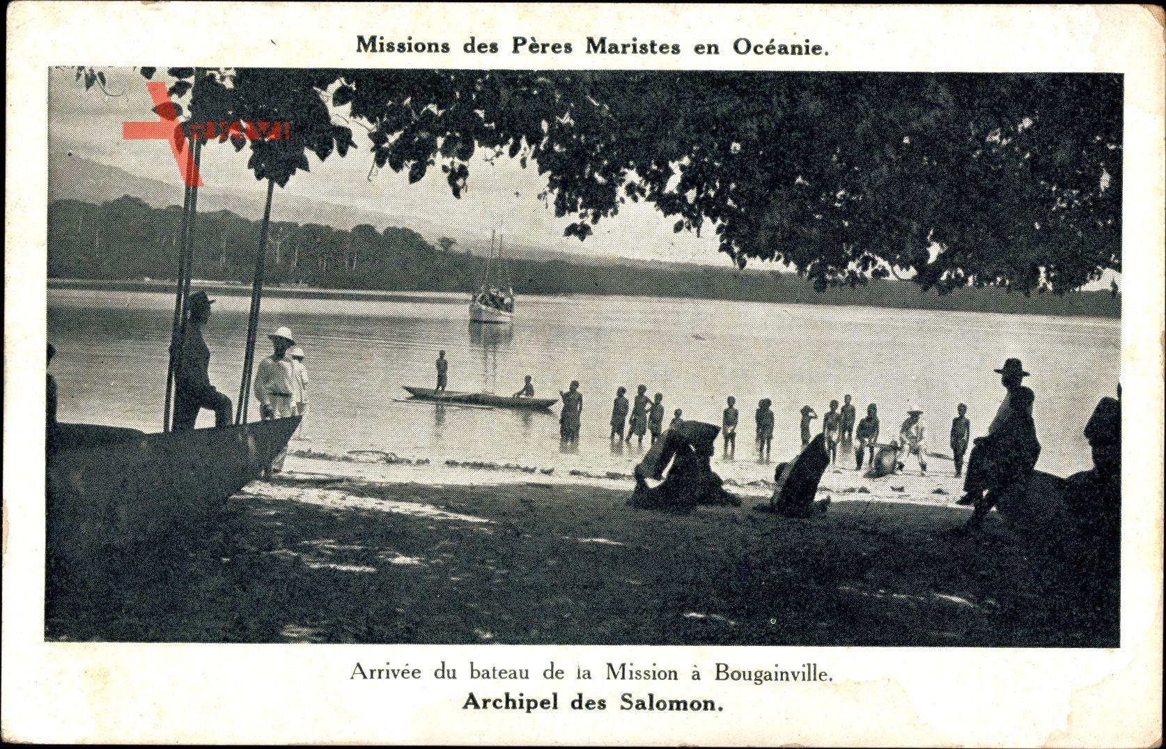 Archipel des Salomon, Arrivée du bateau, Bougainville, Missions Maristes