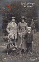 Kronprinz Wilhelm von Preussen, Cecilie, Prinz, Erjagter Hirsch, Liersch 3900