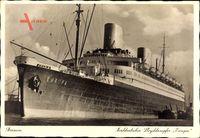 Bremen, Dampfschiff Europa, Norddeutscher Lloyd Bremen, Vor Anker
