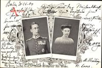 Kronprinz Wilhelm von Preussen, Cecilie, Brautpaar