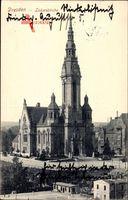 Dresden Zentrum Altstadt, Blick auf die Lukaskirche, Vorderansicht