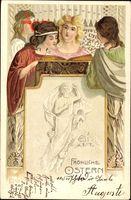 Passepartout Glückwunsch Ostern, Frauen singen