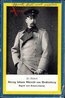 Passepartout Herzog Johann Albrecht von Mecklenburg, Regent von Braunschweig