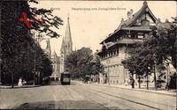 Berlin Charlottenburg, Haupteingang zum Zoologischen Garten, Tram