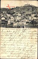 Radebeul Sachsen, Teilansicht der Ortschaft mit Friedensburg, Lössnitz
