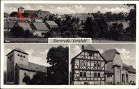 Gernrode im Harz, Kirche, Gemeinde Gasthaus, Totale, Fachwerkhaus