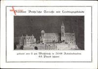 Dresden, Dresdner Brühl'sche Terrasse mit Landtagsgebäude, Modell