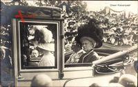 Kaiser Wilhelm II., Kaiserin Auguste Viktoria, Kaiserpaar, Kutsche