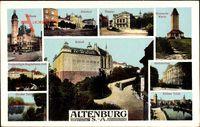 Altenburg Sachsen, Schloß, Bismarckwarte, Rathaus, Theater, Ministerium