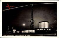 Berlin Charlottenburg, Nachtansicht vom Messegelände mit Funkturm