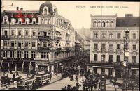 Berlin Mitte, Blick auf das Cafe Bauer, Unter den Linden, Pferdebahn
