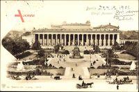 Berlin Mitte, Blick auf das Königliche Museum, Lustgarten, Denkmal