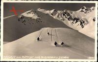 Sölden Tirol Österreich, Abfahrt vom Rotkogel nach Hochsölden und Sölden, Ski