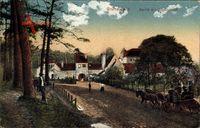 Berlin Wilmersdorf Grunewald, Partie am Jagdschloss, Kutsche, Weg