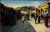 Alexandria Ägypten, Native Bazar near Fort Napoleon, Markt, Einheimische