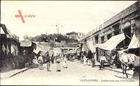 Alexandria Ägypten, Arabian bazar near Fort Napoleon, Geschäfte