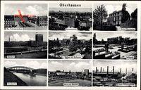 Oberhausen am Rhein, Polizeipräsidium, Bahnhof, Rathaus, Schloß, Grillopark
