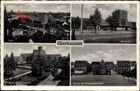 Oberhausen am Rhein, Bahnhof, Rathaus, Polizeipräsidium