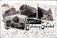 Suderburg Oldendorf, Wiesenbauschule, Voigt's Besitzung, Pfarrhaus, Kirche