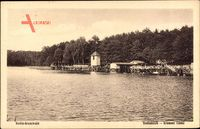 Berlin Wilmersdorf Grunewald, Blick auf die Badeanstalt Krumme Lanke