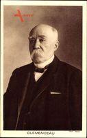 Georges Clemenceau, französischer Journalist, Politiker und Staatsmann