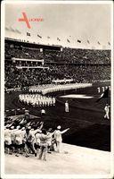 Berlin Charlottenburg, Olympiade 1936, Deutsche Mannschaft, Eröffnungsfeier
