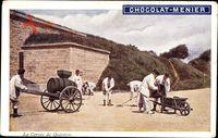 La Corvée de Quartier, Soldaten bei der Arbeit, Chocolat Menier