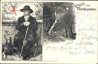 Friedrichsruh Aumühle im Herzogtum Lauenburg, Bismarck mit Hund, Wappen