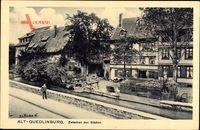 Quedlinburg im Harz, Zwischen den Städten, Wohnhäuser, Flusspartie