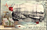 Passepartout Hamburg, Blick in den Hafen, Segelschiffe