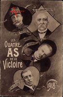 Maréchal Foch, Georges Clemenceau, Lloyd George, Woodrow Wilson