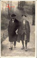 Karl Liebknecht, Marxist, Spartakist, Im Berliner Tiergarten mit seinem Sohn