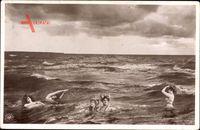 Junge Frauen baden im offenen Meer, NPG 455 7, Uranotypie