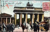 Berlin, Das Brandenburger Tor, Spazierritt des Kaisers Wilhelm II.