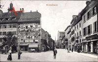 Konstanz am Bodensee, Straßenpartie, Haus Barbarossa, Geschäfte