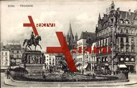 Köln am Rhein, Der Heumarkt mit Denkmal, Schuh Haus, Geschw. Neuss