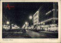 Berlin Schöneberg, Blick auf die nächtliche Tauentzienstraße, Autos