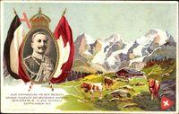 Kaiser Wilhelm II., Staatsbesuch Schweiz, Sept 1912