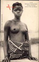 Afrique Occidentale, Jeune Femme de la Côte de Kroo, Barbusig, Afrikanerin