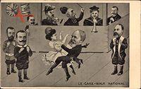 Loubet, Le Cake Walk National, Marianne, Viktor Emanuel III, Eduard VII.