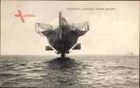 Zeppelins Luftschiff, hintere Ansicht, Zeppelin, Starrluftschiff