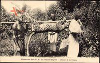 Afrika, Missions des PP du Saint Esprit, Retour de la Chasse, Leopard