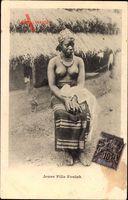 Afrika, Jeune Fille Foulah, Junge Frau mit großem Busen