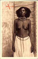 Femme Abéraoual, Afrikanerin, Barbusig, Halskette