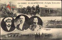 Poincaré, Nikolaus II., Georg V., Guerre Européenne, Triple Entente 1914