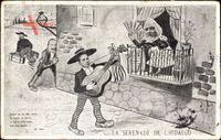 Émile François Loubet, König Alfons XIII. von Spanien, Wilhelm II., Karikatur